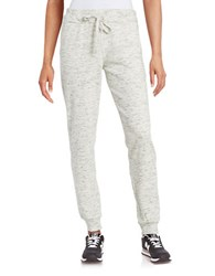 Marc New York Textured Knit Jogger Pants White