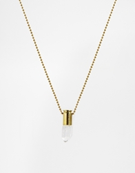 Love Bullets Lovebullets Crystal Quartz Necklace Gold