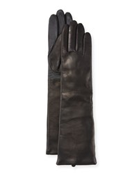 Ugg Long Cashmere Lined Leather Tech Gloves Black
