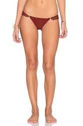 For Love And Lemons Barcelona Bikini Bottom Red