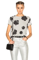 Kenzo The Allover Tiger Tee In Gray Abstract Gray Abstract