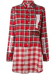 Sold Out Frvr Plaid Shirt Dress Red