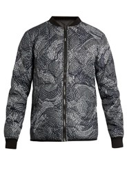 Kenzo Reversible Quilted Bomber Jacket Black