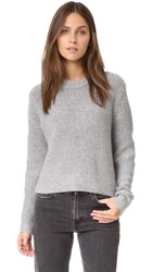 James Perse Cropped Cashmere Sweater Heather Grey