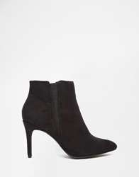 New Look Black Snake Effect Heeled Pointed Boots