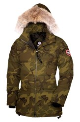 Women's Canada Goose 'Solaris' Regular Fit Down Parka With Genuine Coyote Fur Classic Camo