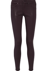 Rag And Bone Mid Rise Skinny Jeans Red