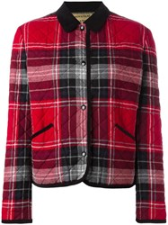 Maison Kitsune Checked Jacket Red