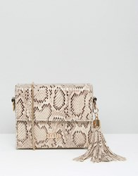 Faith Faux Snake Box Shoulder Bag With Tassel Multi