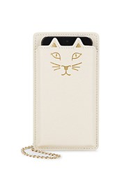 Charlotte Olympia Feline Iphone 5 Leather Case Off White