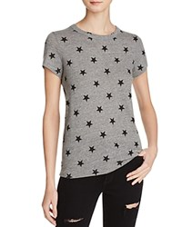 Alternative Apparel Ideal Star Print Tee Eco Grey Stars