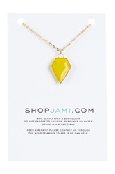 Jami 14K Gold Filled Yellow Onyx Dakota Diamond Pendant Necklace