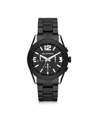 Karl Lagerfeld Kurator 41.5 Mm Men's Chronograph Watch Black