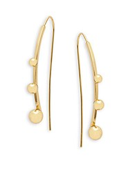 Jules Smith Designs Bauble Threader Earrings Gold