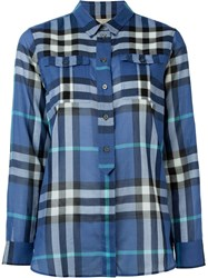 Burberry Brit Checked Shirt Blue