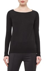 Women's Akris Punto Knit Front Wool And Silk Pullover