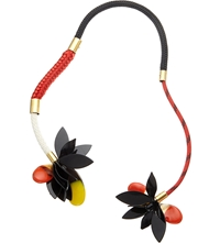 Marni Resin Flower Necklace Hot Red