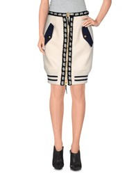 Moschino Couture Skirts Knee Length Skirts Women White