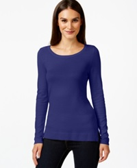 Inc International Concepts Scoop Neck Long Sleeve Sweater Only At Macy's Goddess Blue