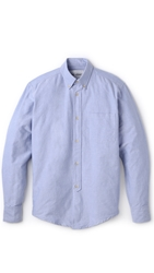 1940S Oxford Shirt Blue