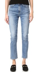 Gold Sign Glenn High Rise Cropped Straight Jeans Celia