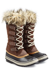 Sorel Joan Of Artic Tall Boots With Faux Fur Brown