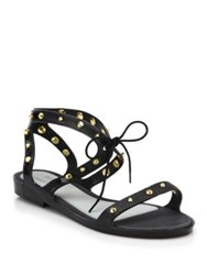Melissa Studded Lace Up Plastic Sandals