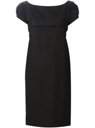 Aspesi Puff Sleeve Shift Dress Black