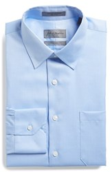 Men's Big And Tall John W. Nordstrom Traditional Fit Solid Pique Dress Shirt Blue Grapemist
