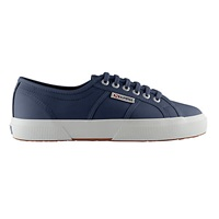 Superga 2750 Flat Lace Up Trainers Navy Leather