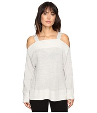 Sanctuary Amelie Bare Shoulder Sweater Marled Sterling Women's Sweater White