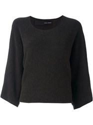 Isabel Benenato Cropped Jumper Brown