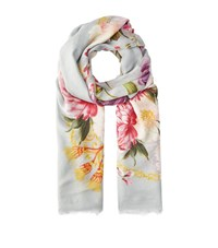 Dolce And Gabbana Floral Print Pashmina Female Pink