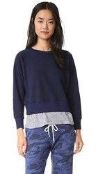 Monrow Double Layer Sweatshirt Navy