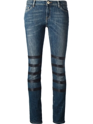 Each X Other Slim Fit Lambskin Trim Jeans Blue