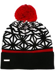 Dsquared2 Pom Pom Hat Black