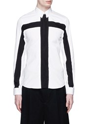 Givenchy Contrast Cross Front Shirt White