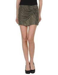 Haute Hippie Mini Skirts Brown