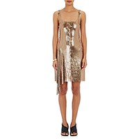 Paco Rabanne Women's Lace Up Chain Mail Tank Dress Gold