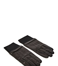 Lanvin Lambskin Wool Gloves Brown