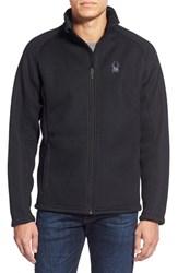 Men's Spyder 'Foremost' Zip Front Knit Sweater Black Black