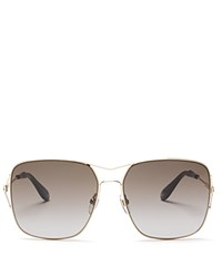 Givenchy Square Aviator Sunglasses 58Mm Gold Brown Gradient