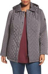 Calvin Klein Plus Size Women's Water Resistant Diamond Quilted Jacket Titanium