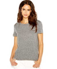 Rachel Rachel Roy Short Sleeve Split Back Blouse Heather Grey