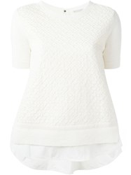 Moncler Flared Quilted Sweatshirt Nude And Neutrals