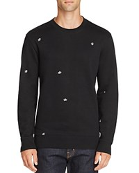 Obey Fly Embroidered Sweatshirt Black
