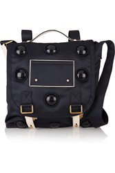 Marc Jacobs Big Trooper Convertible Leather Trimmed Satin Twill Backpack