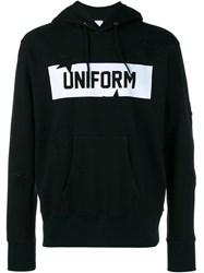 Uniform Experiment Star Box Logo Hoodie Black