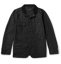 Engineered Garments Garment Corduroy Trimmed Cotton Jacket Black