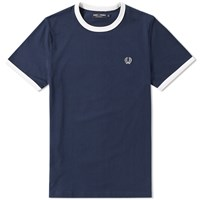 Fred Perry Ringer Tee Blue